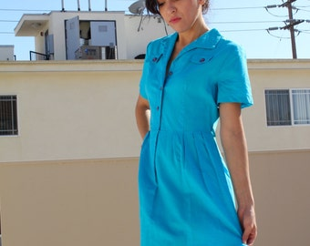 1960s Blue Day Dress