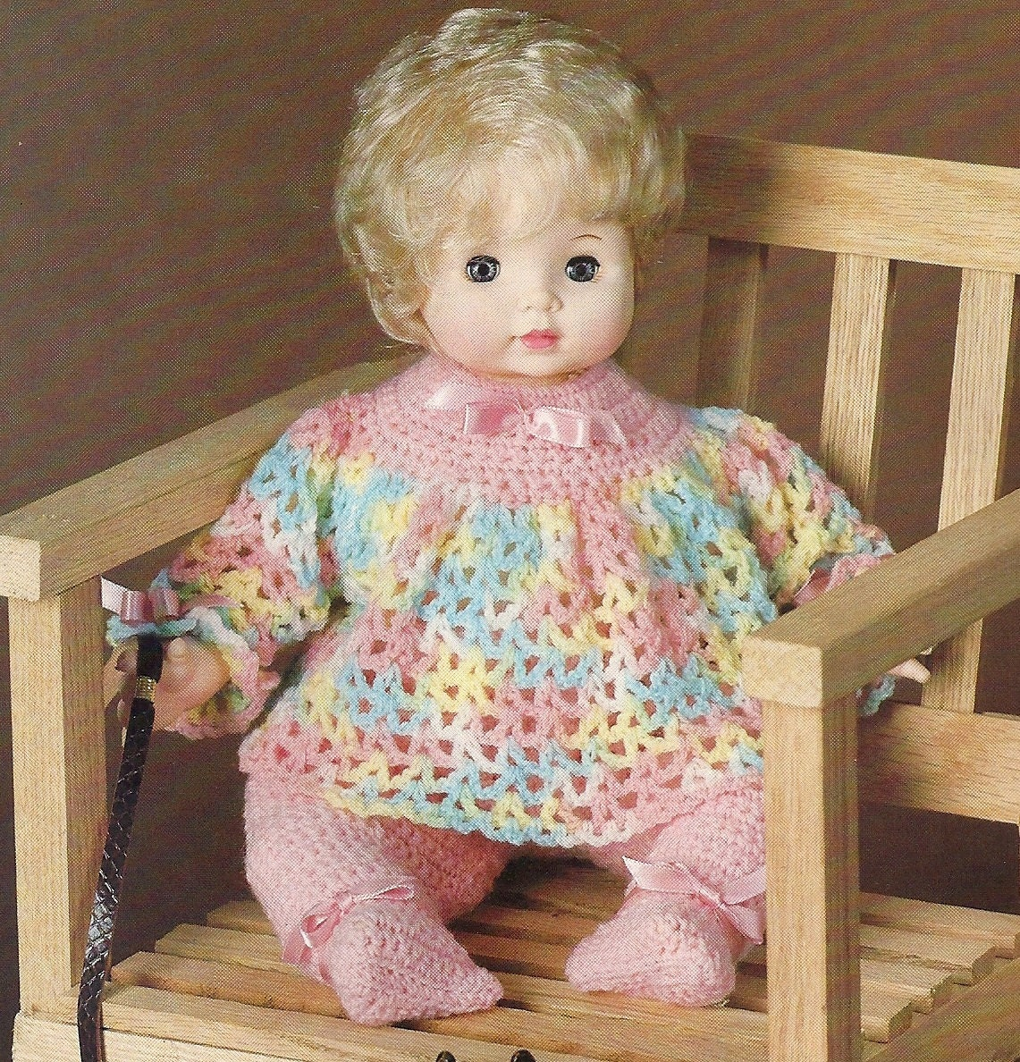 18 Baby Doll Clothes Vintage Crochet Pattern Top by