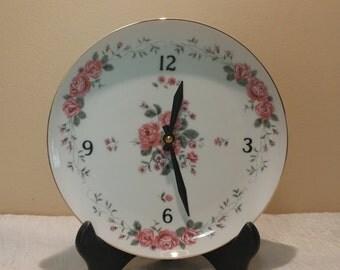 Japan Rose Pattern Clock