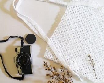 Vintage crochet tote