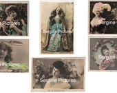 Vintage 1910's Batch of 6 french postcards