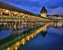 Chapel Bridge in Lucerne Switzerland - Jason Stevensen Photography