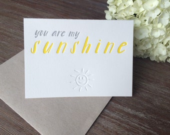 Letterpress Sunshine Greeting Cards
