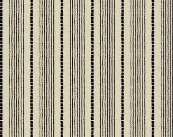 Windham Basics - Black & Cream Shirting Stripe Fabric