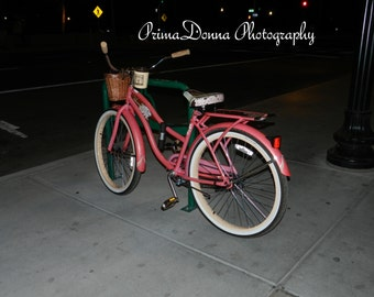 Pink Bike at Night