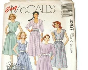 McCall's dress pattern 4267  Misses Sizes 10-12-14   Vintage printed 1989  Uncut