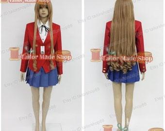 Toradora Gal cosplay costume red uniform