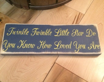Twinkle Twinkle Little Star wooden sign