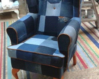 Items Similar To Custom Order Happy Chair Damask And