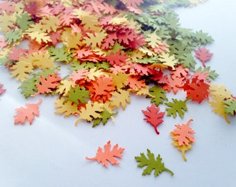 300 Fall Leaf Confetti l Autumn Paper Leaf Confetti l Thanksgiving Table Decor  l Rustic Wedding Decor