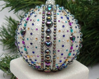 Colorful Crown Jewels Christmas Ornament