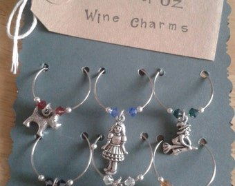 Wizard of Oz Wine Charms Set of 6