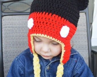 Crochet Mickey Hat, Mittens
