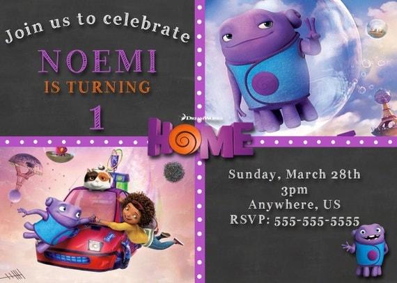 DreamWorks Home Movie Birthday Party Invitations by XochitlMontana
