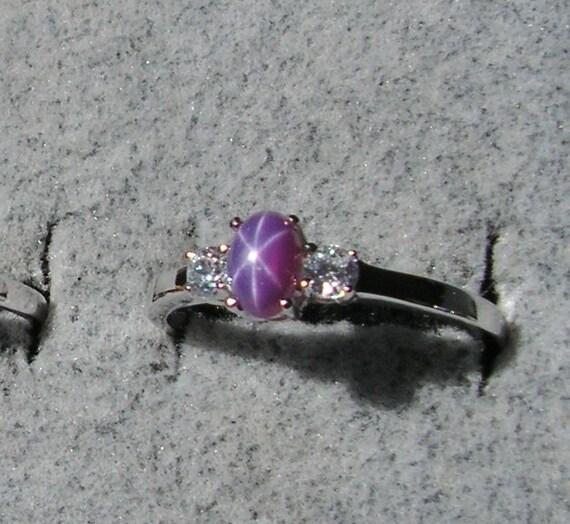 Vintage Linde Lindy Petite 6x4mm Plum Purple By Silkpurseprime