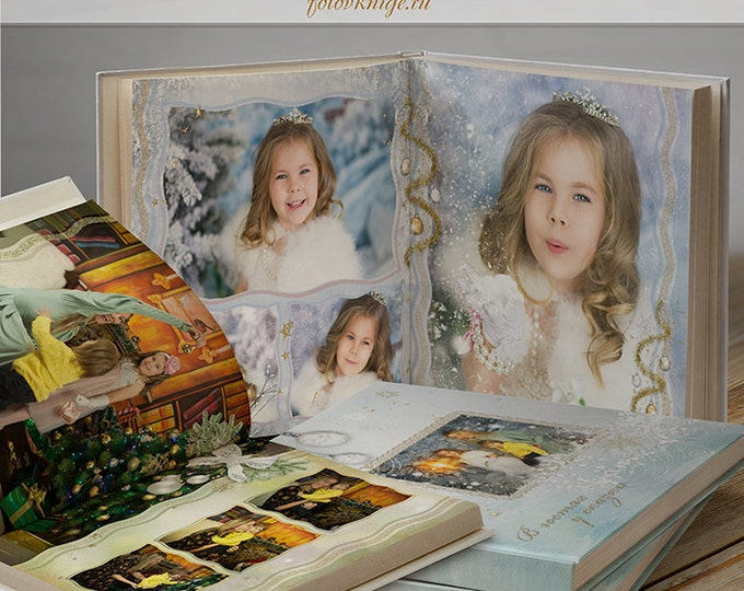 PHOTO BOOK Merry Christmas- photobooks in the style of scrapbooking. 12x12 Photo Book/Album Template