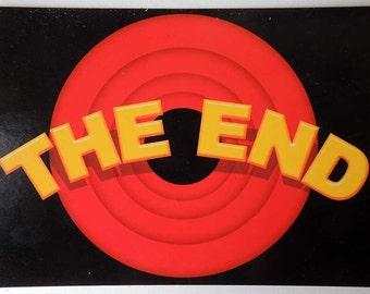 THE END Postcard
