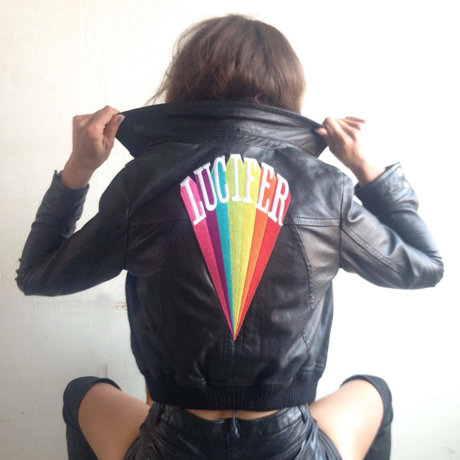 Lucifer Rising: Kenneth Anger Lucifer Rising Rainbow Embroidered Patch Black