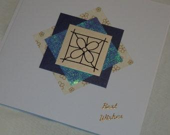 Best Wishes flower card
