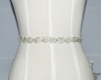 1 yard Wedding Sash Belt, Bridal Accessories,Rhinestone Crystal Bridal Belt Sash,  Crystal Belt Sash Rhinestone Bridal Sash