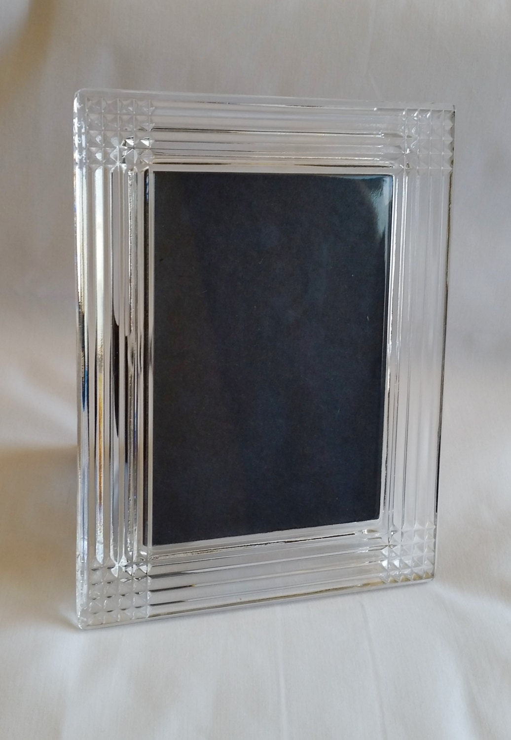 Full Lead Crystal Echt Bleikristall Glass Picture Photo Frame