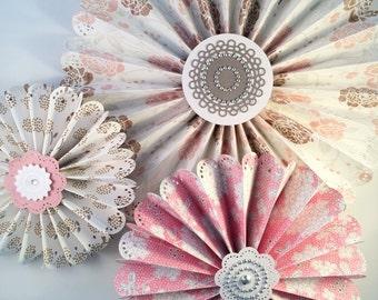 Flowered rosettes- handmade rosettes