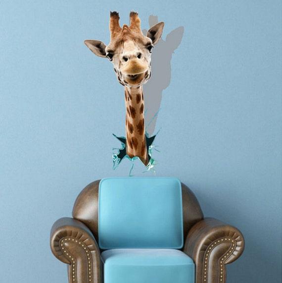3d aufkleber der giraffe wandmalerei f r kinderzimmer for Aufkleber fur kinderzimmer