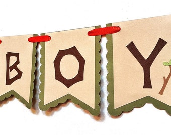 Woodland Garland - Woodland Birthday - Woodland Theme - It's A Boy Banner - Woodland Banner - Woodland Critter - Woodland Decor