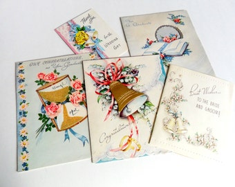 Vintage Greeting Cards Lot Thank You Anniversary Graduation Wedding Congratulations Bride and Groom