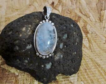Handmade 925 stamped Sterling Silver Moonstone Pendant