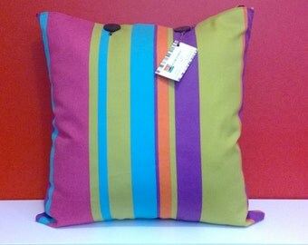 Bright striped cushion