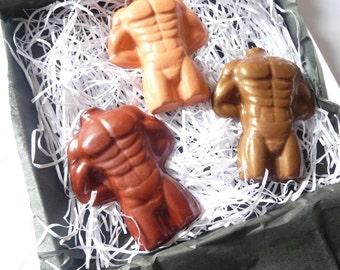 Male torso crayon set