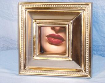 Fashion Ad Image, closeup. Framed.