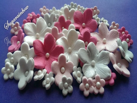 Edible Sugar Flowers For Cake Cupcake Toppers