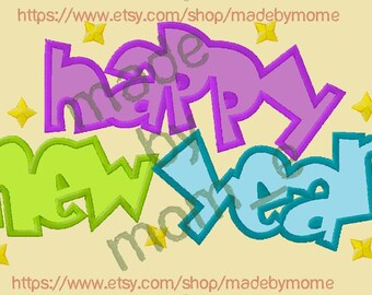 Happy New Year - Bubble Applique