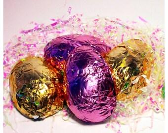 Peanut Butter Stuffed Belgian Chocolate Easter Eggs