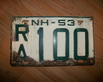 Vintage 1953 New Hampshire License Plate