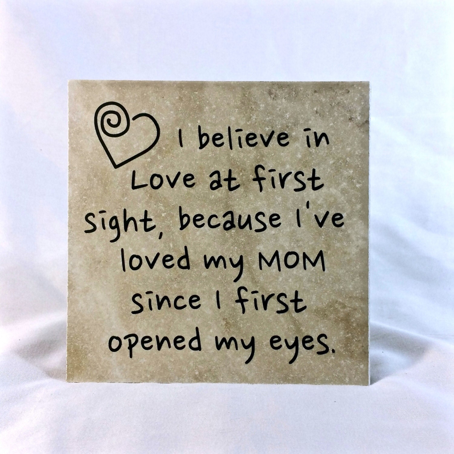 Quotes About Love At First Site: I Believe In Love At First Sight Saying Quote 6 X 6 Tile