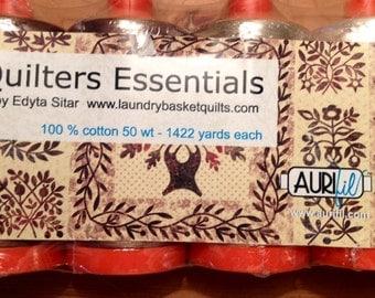 Edyta Sitar's Aurifil QUILTER'S ESSENTIALS Set of 4 Large Spools 50-wt 100% Cotton Thread