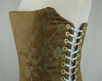 Corset/ Ready Wear/ Steel Boned/ Victorian Style Print Corset Bust 30-34 Waist 26-30 Hips 30-36