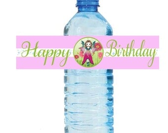 Printable Water Bottle Labels Birthday Fairies Instant Download Printable Fairy Labels