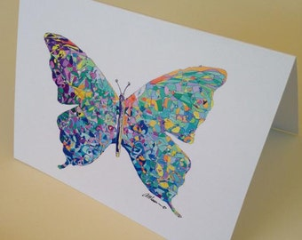 Butterfly Card Greetings Card Greetings Cards Blank Card Birthday Card Flutterby Insect