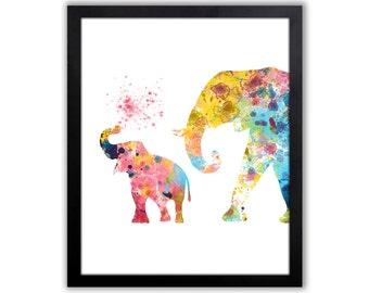 Elephant Art For Children, Baby Elephant, Elephant Wall Art - EL037