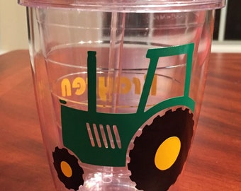 Personalized Tractor Tumbler
