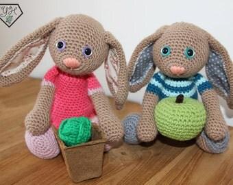 Bartholomeus the Bunny - Amigurumi crochet animal