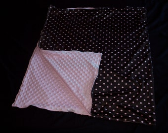 Polka Dot Minky Blanket