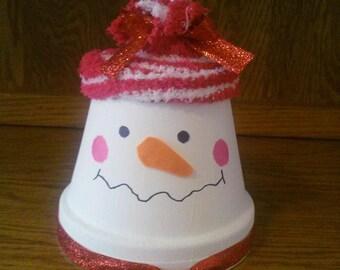 Decorative Snowman Centerpiece