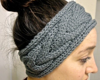 Knit headband, knit ear warmer, knitted headband, cable knit headband, cable headband, winter accessory