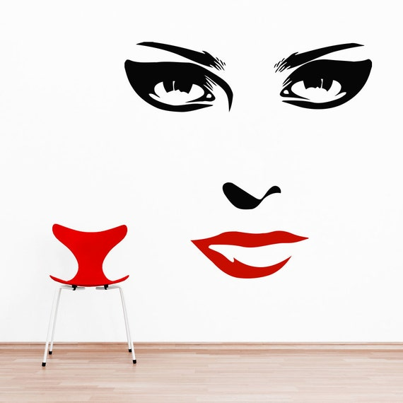 Wall Art Stickers Eyes : Makeup wall decal vinyl sticker decals home by