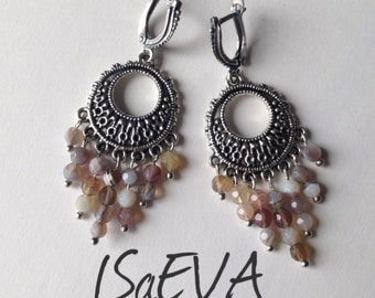 Brazilian agate earrings